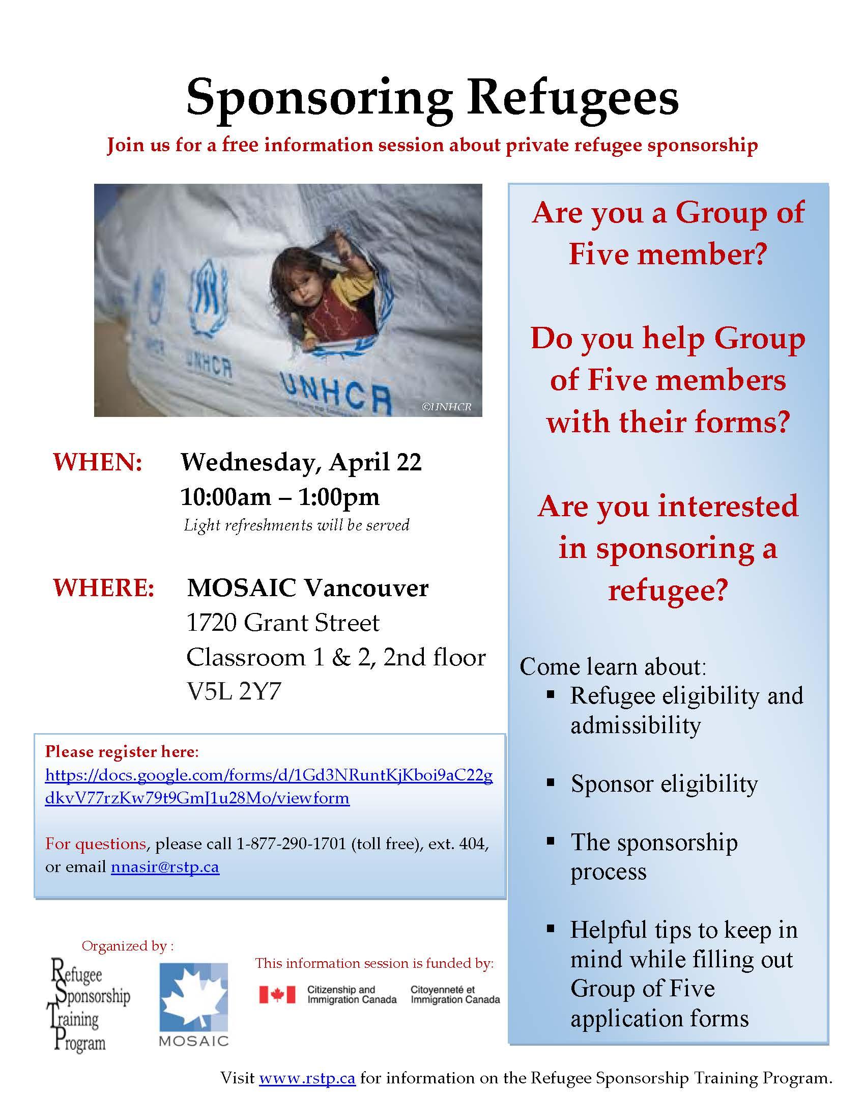 Group of Five Sponsorship - April 22 2015 - Vancouver