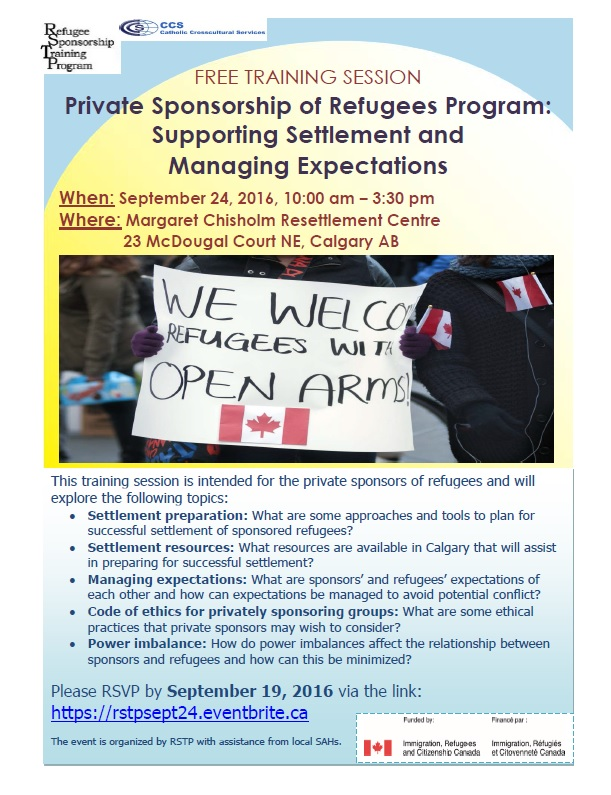 PSR Program - Supporting Settlement and Managing Expectations - Calgary AB