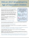 FAQ on  2017 Amendment to Age of Dependent Children (May 2017)
