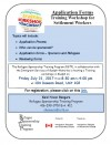 Application Forms - Training Work shop for Settlement Workers (21-7-17 Guelph)